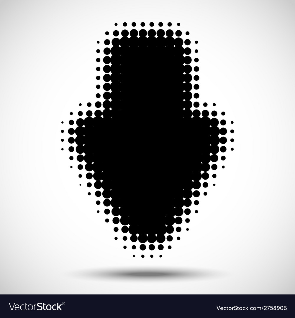 Black halftone arrow vector | Price: 1 Credit (USD $1)