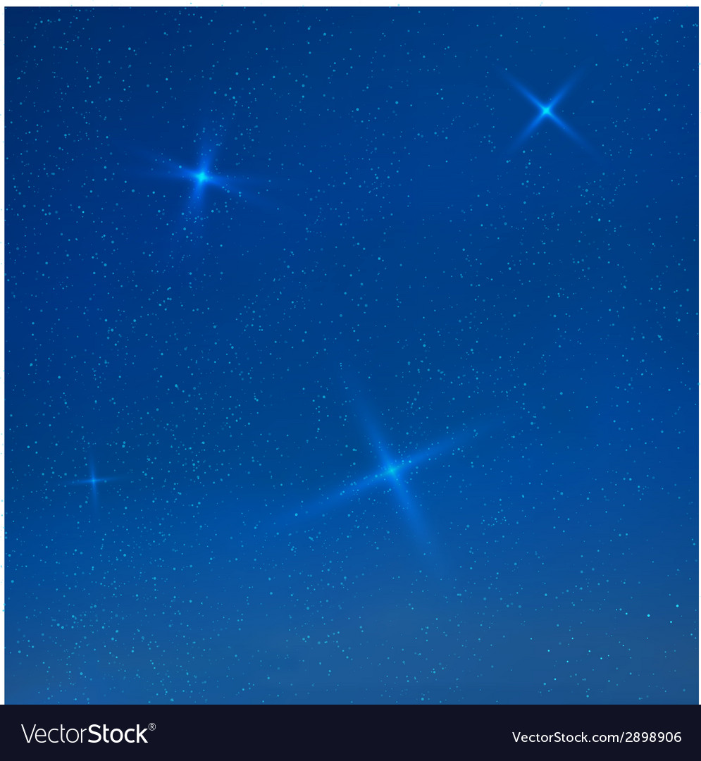 Blue evening skyes with stars vector | Price: 1 Credit (USD $1)