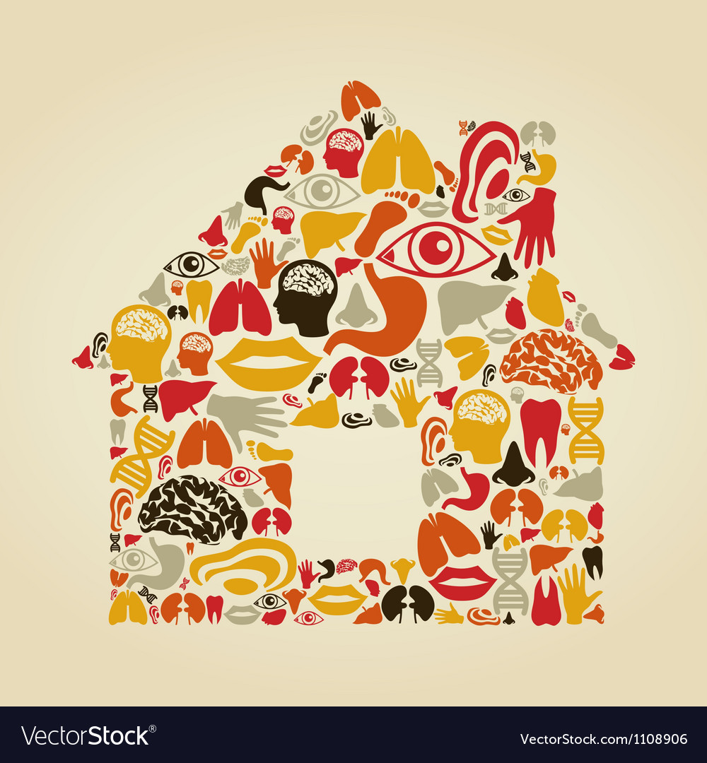 Body the house vector | Price: 1 Credit (USD $1)