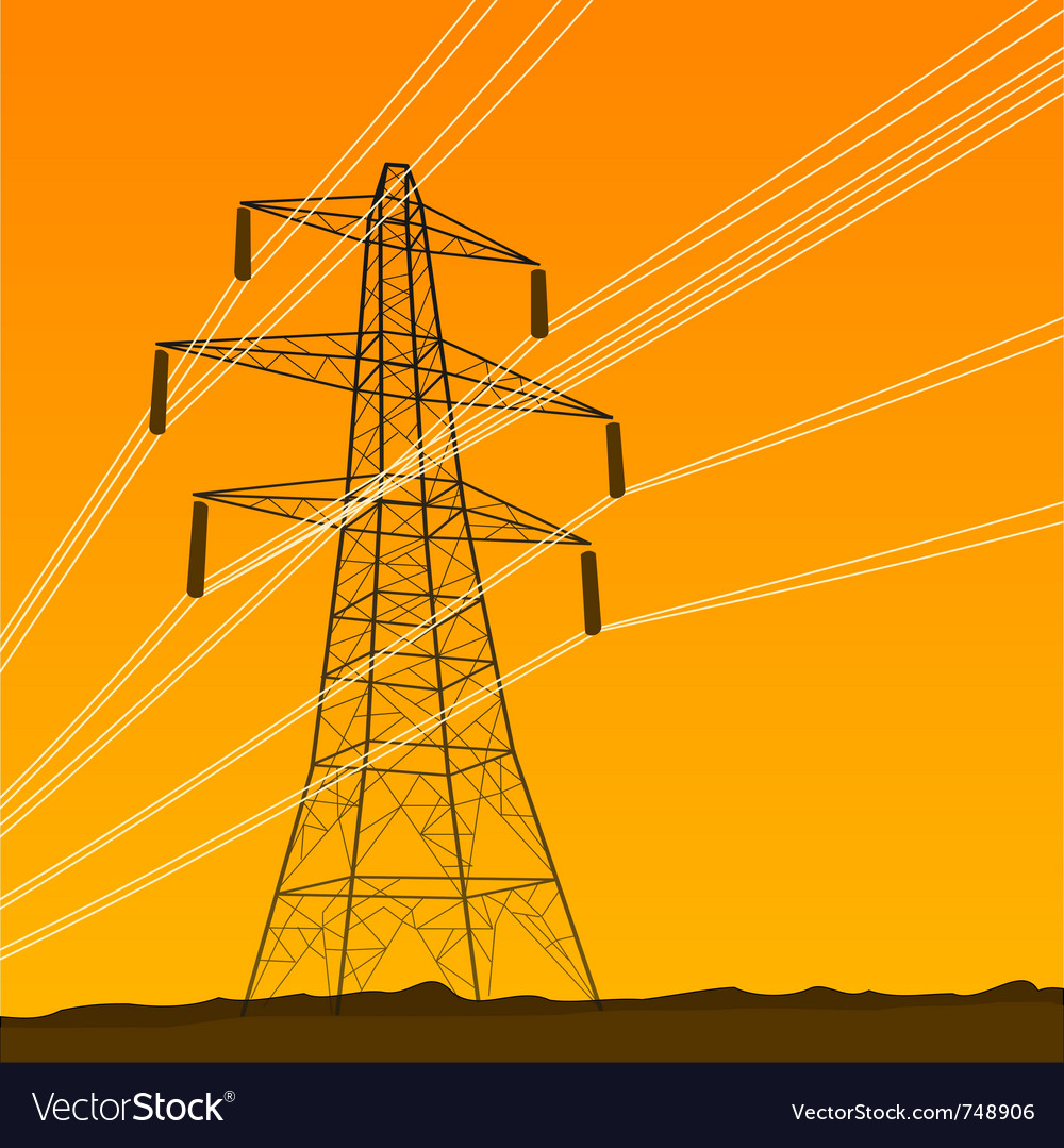 Electrical tower vector | Price: 1 Credit (USD $1)