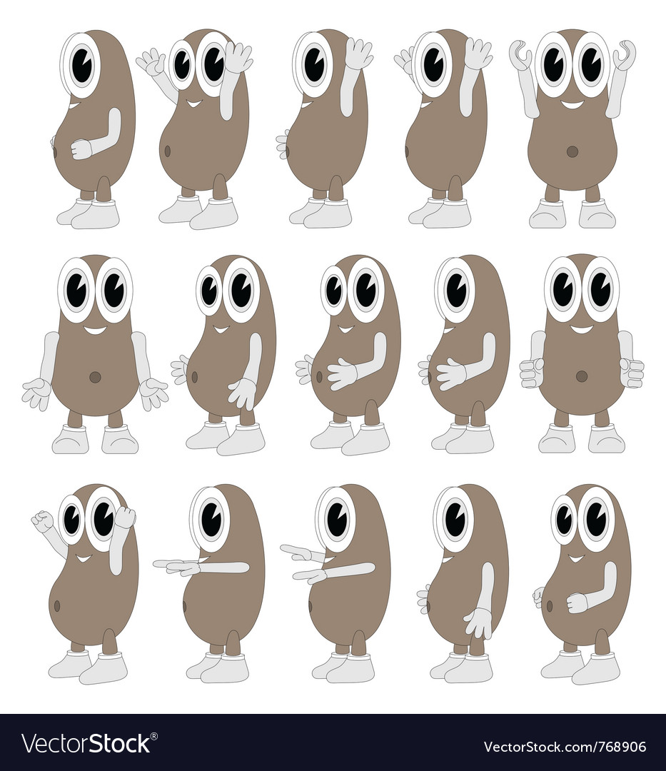 Funny beans vector | Price: 1 Credit (USD $1)