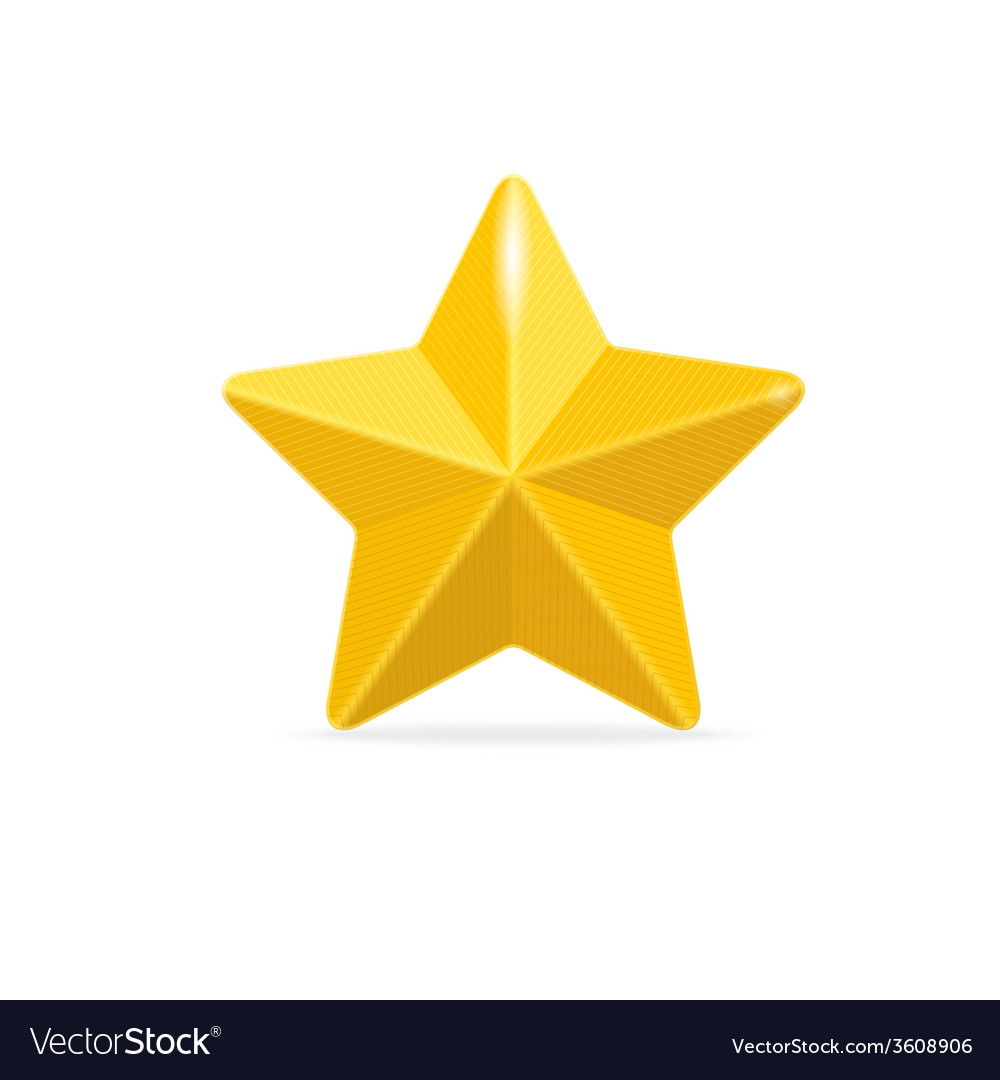 Golden star isolated on white vector | Price: 1 Credit (USD $1)