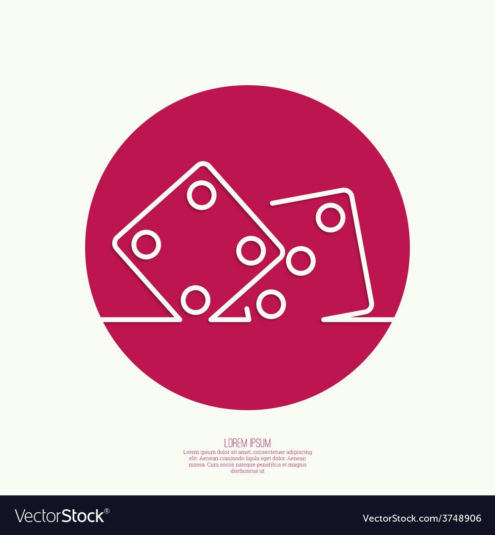 Icon dice cubes vector   Price: 1 Credit (USD $1)