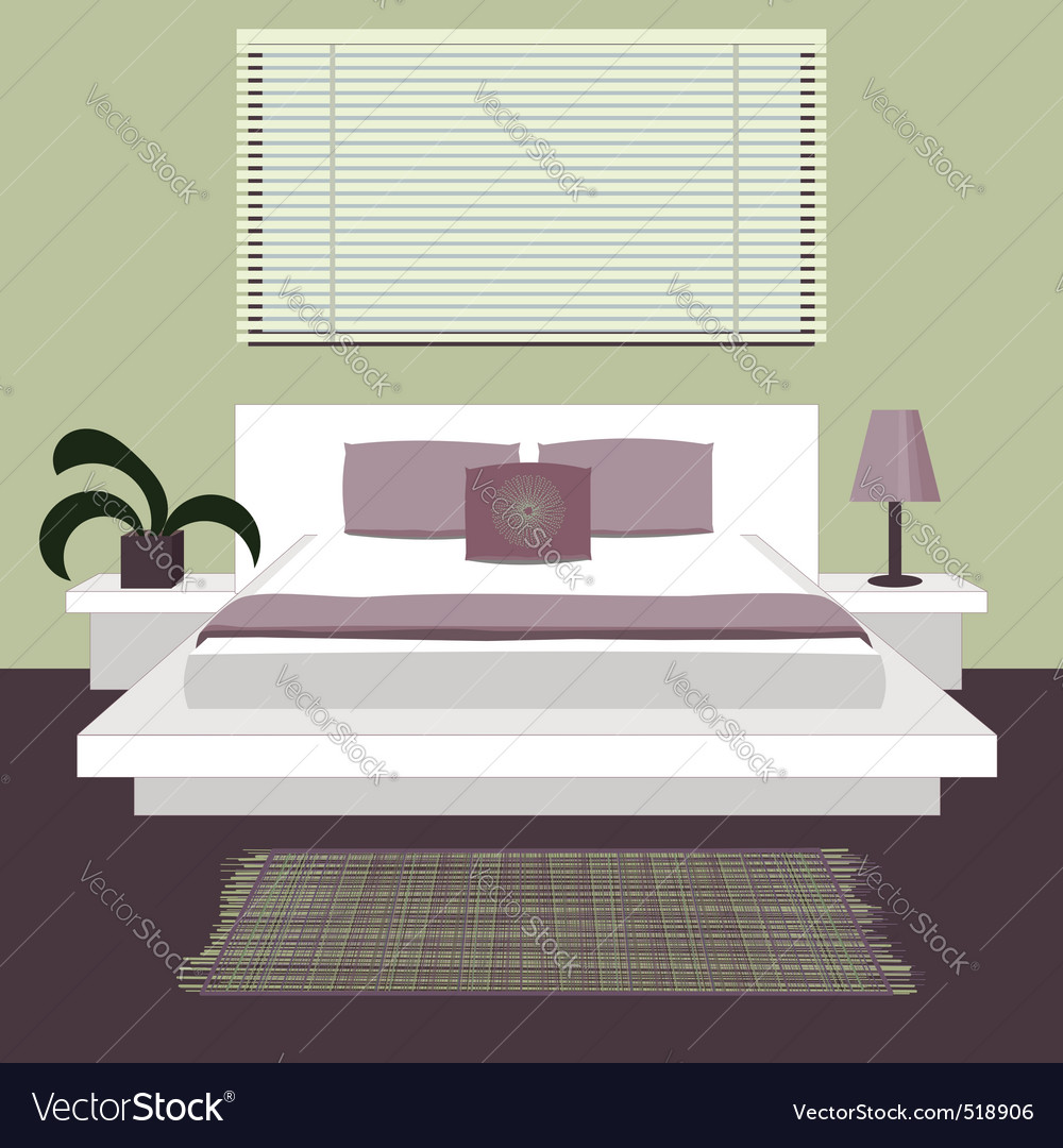Modern bedroom vector | Price: 1 Credit (USD $1)