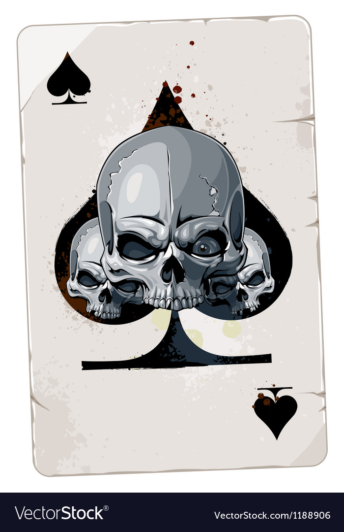 Poker card with skulls vector | Price: 3 Credit (USD $3)