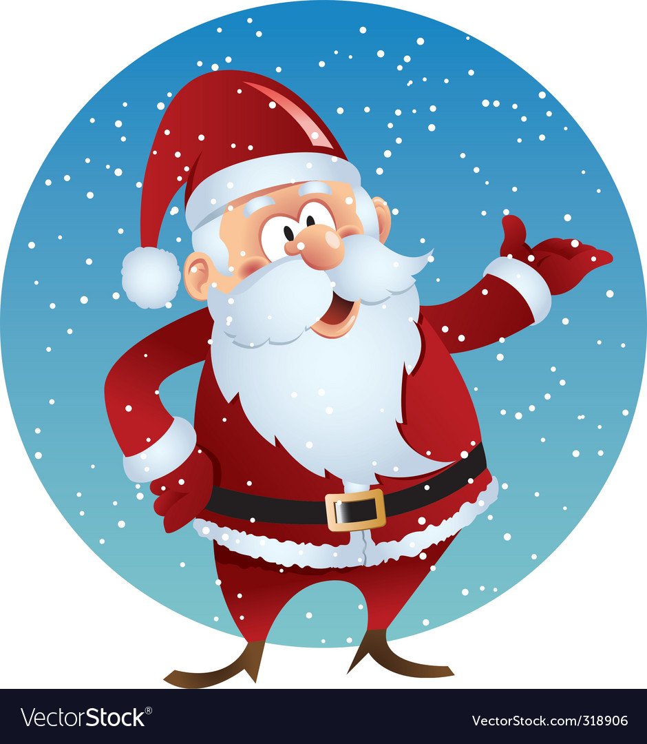 Santa smiling vector | Price: 1 Credit (USD $1)