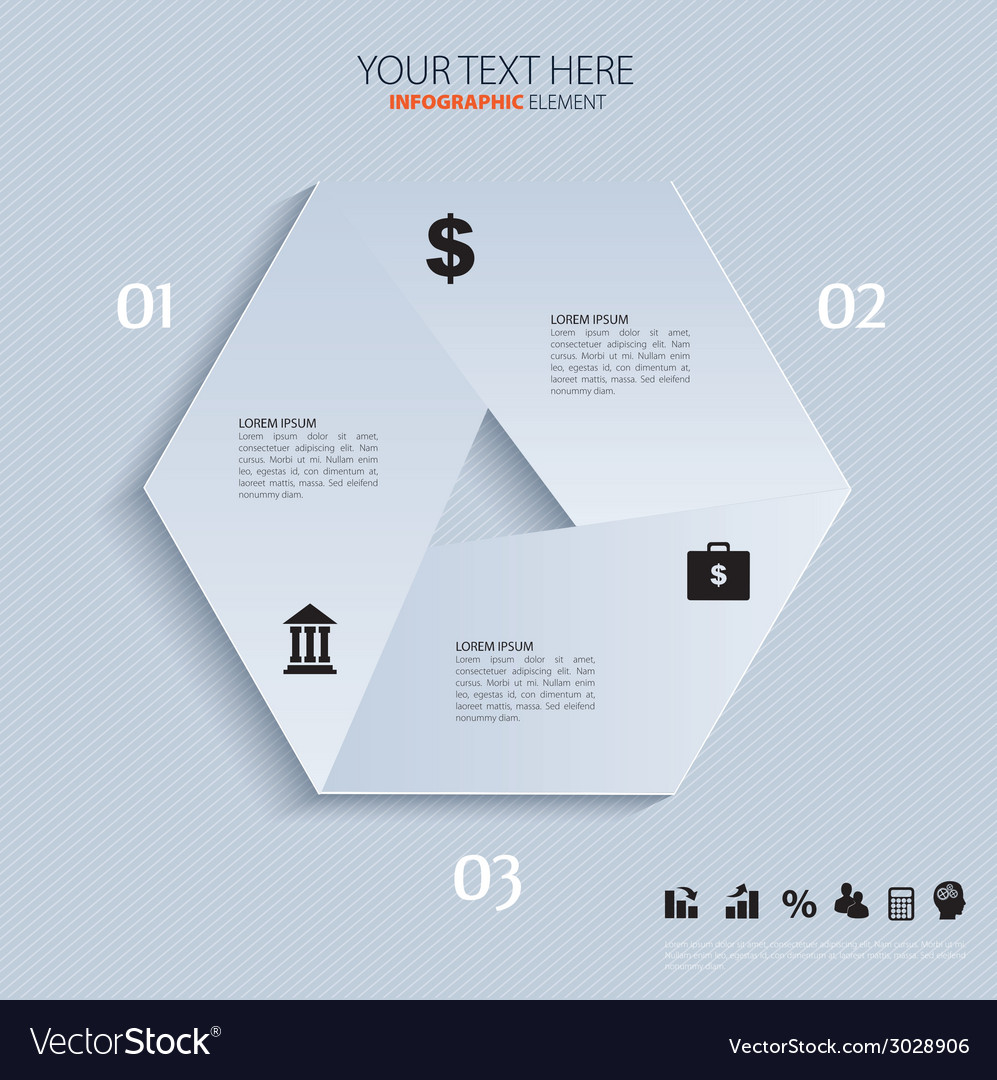 Template for business concepts with icons  can use vector | Price: 1 Credit (USD $1)