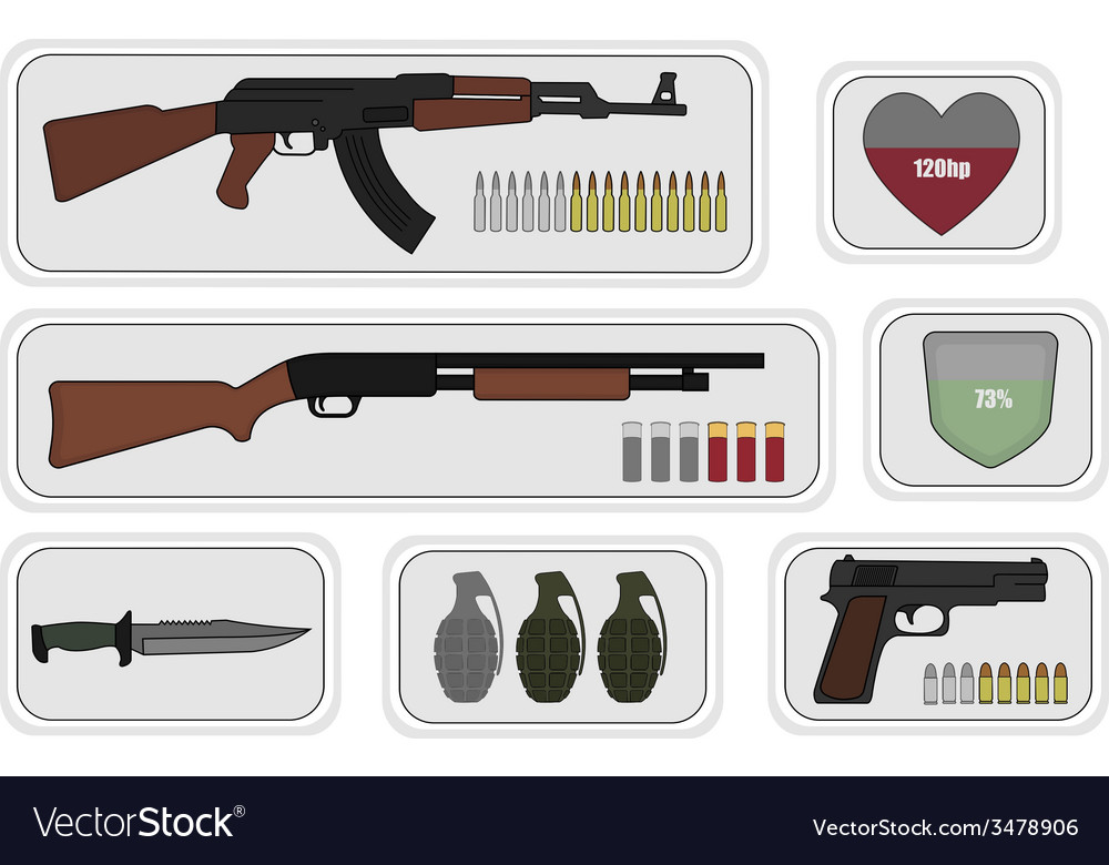 Weapons game resources vector | Price: 1 Credit (USD $1)