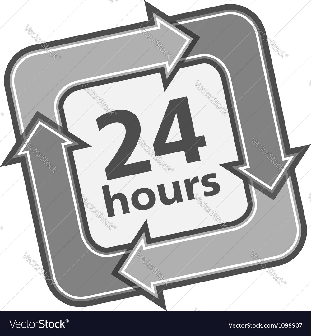 24 hours badge vector | Price: 1 Credit (USD $1)