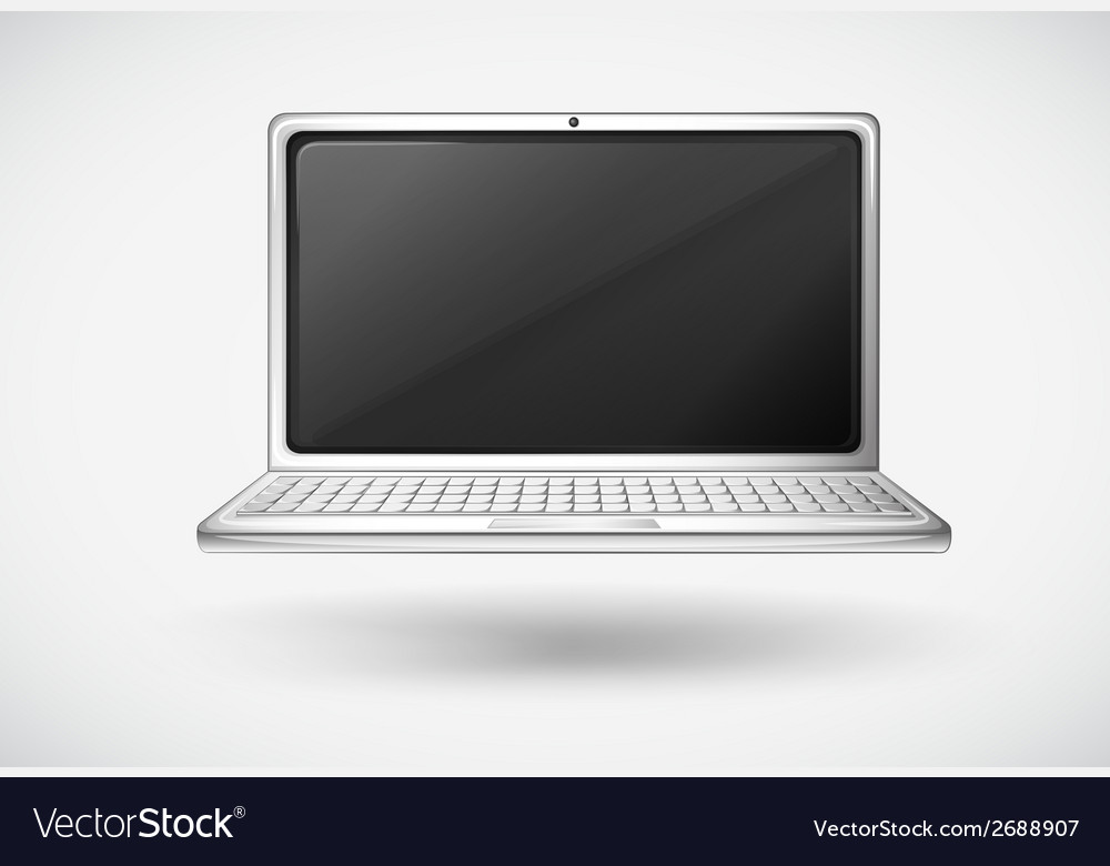 A laptop vector | Price: 1 Credit (USD $1)