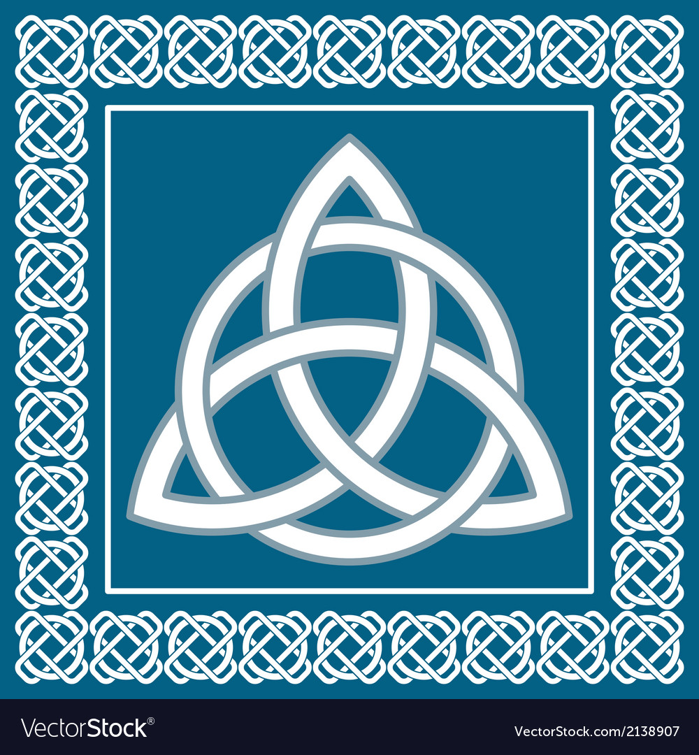 Ancient symbol triskel traditional celtic design vector | Price: 1 Credit (USD $1)