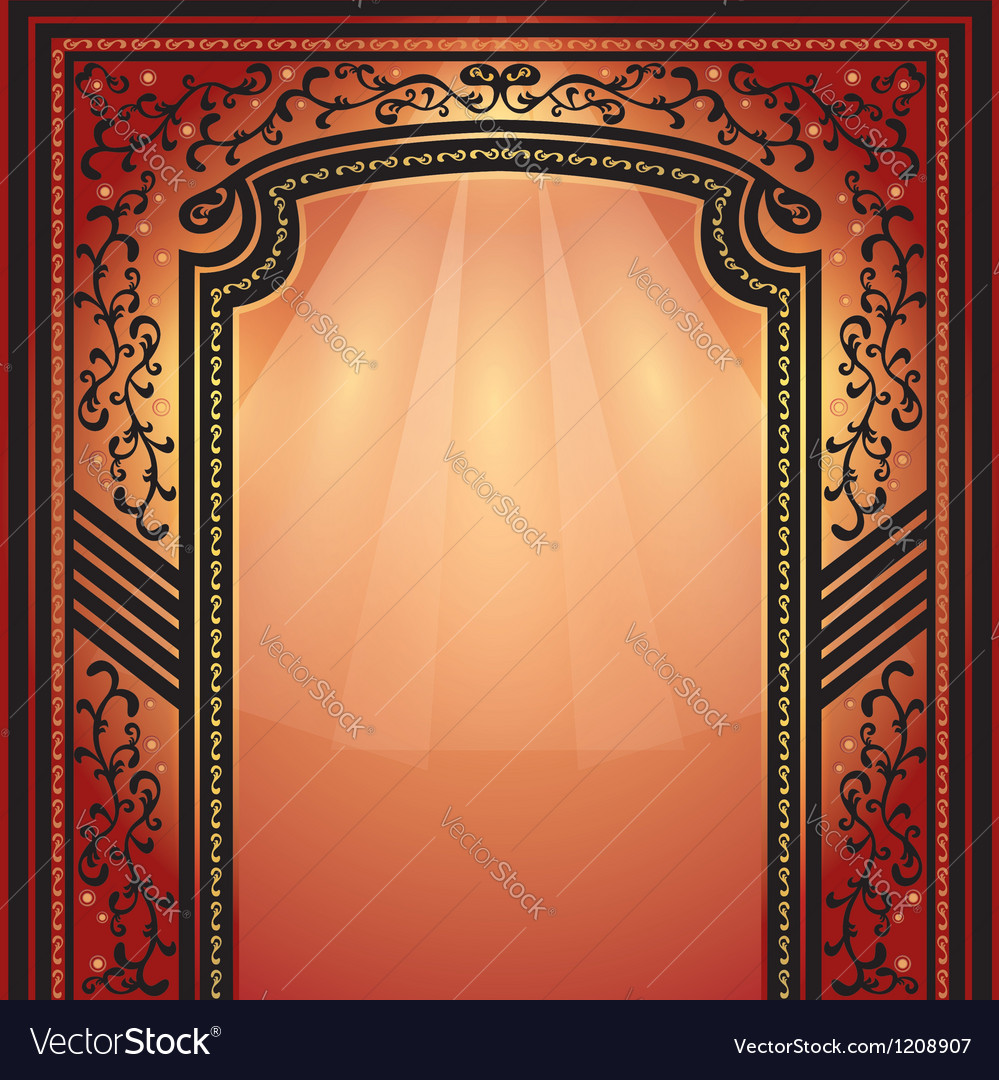 Background of decorative arch with ornament vector | Price: 1 Credit (USD $1)