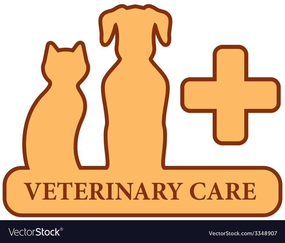 Brown isolated veterinary care symbol vector | Price: 1 Credit (USD $1)