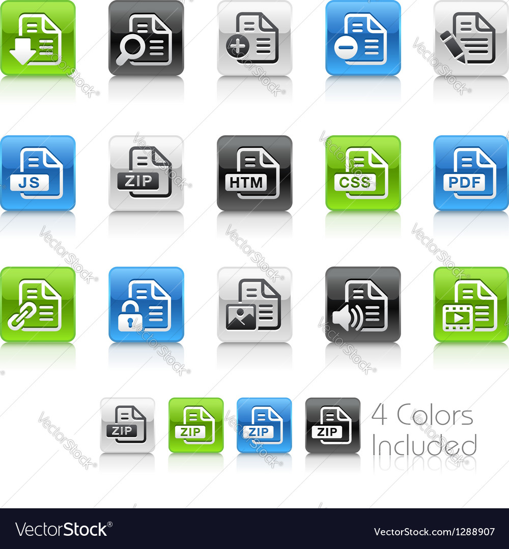 Document icons 1 clean series vector | Price: 1 Credit (USD $1)
