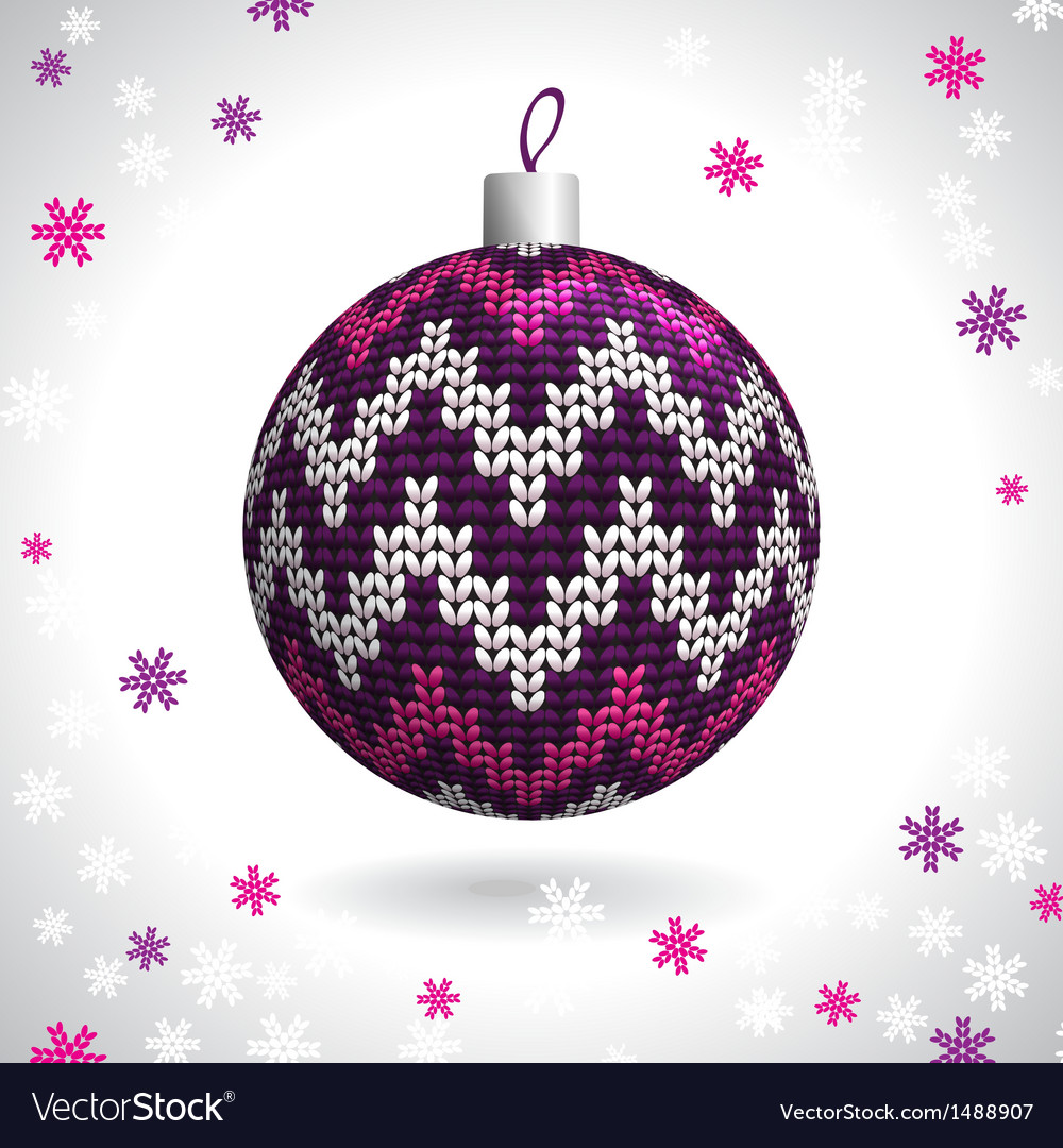 Knitted christmas ball vector | Price: 1 Credit (USD $1)