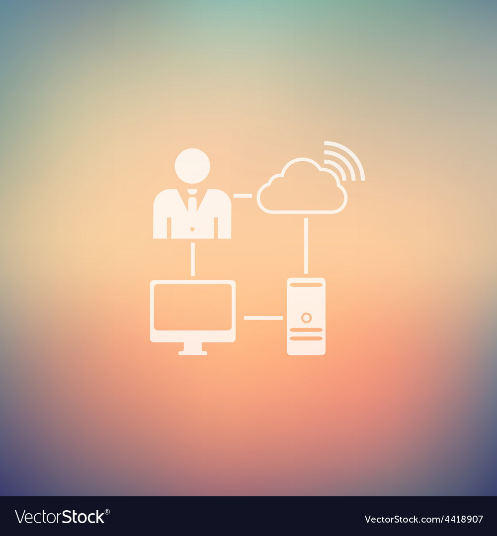 Man using internet in flat style icon vector | Price: 1 Credit (USD $1)