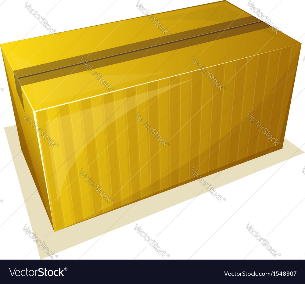 Parcel package sealed with tape vector | Price: 1 Credit (USD $1)
