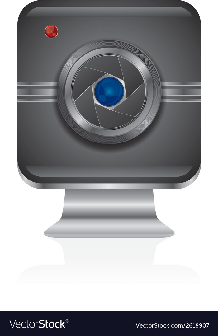 Web cam icon design vector | Price: 1 Credit (USD $1)