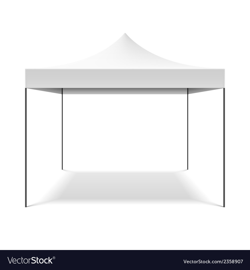 White folding tent vector | Price: 1 Credit (USD $1)