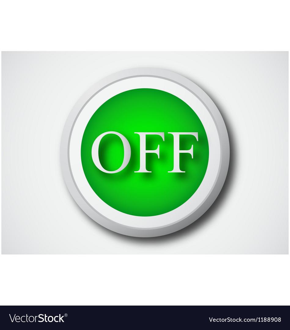 Button icon vector | Price: 1 Credit (USD $1)