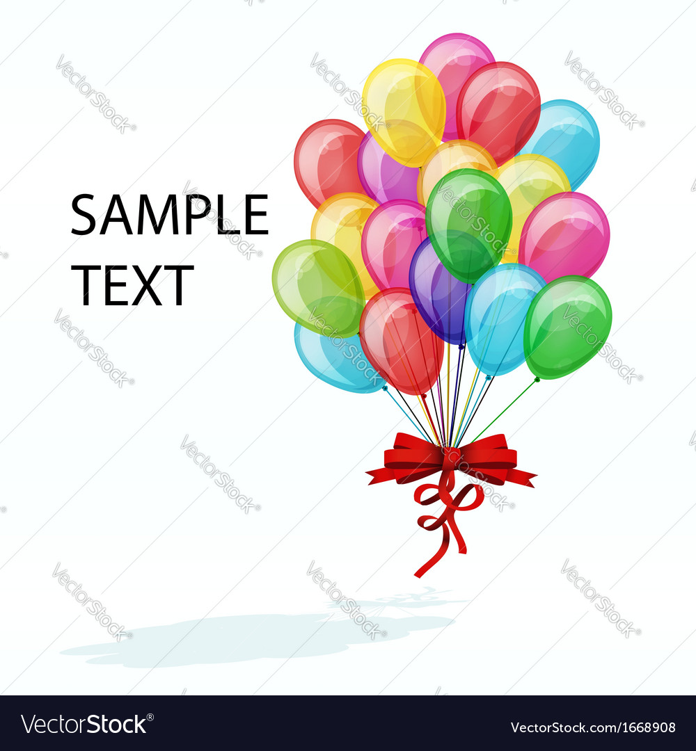 Color balloons isolated on white vector | Price: 1 Credit (USD $1)