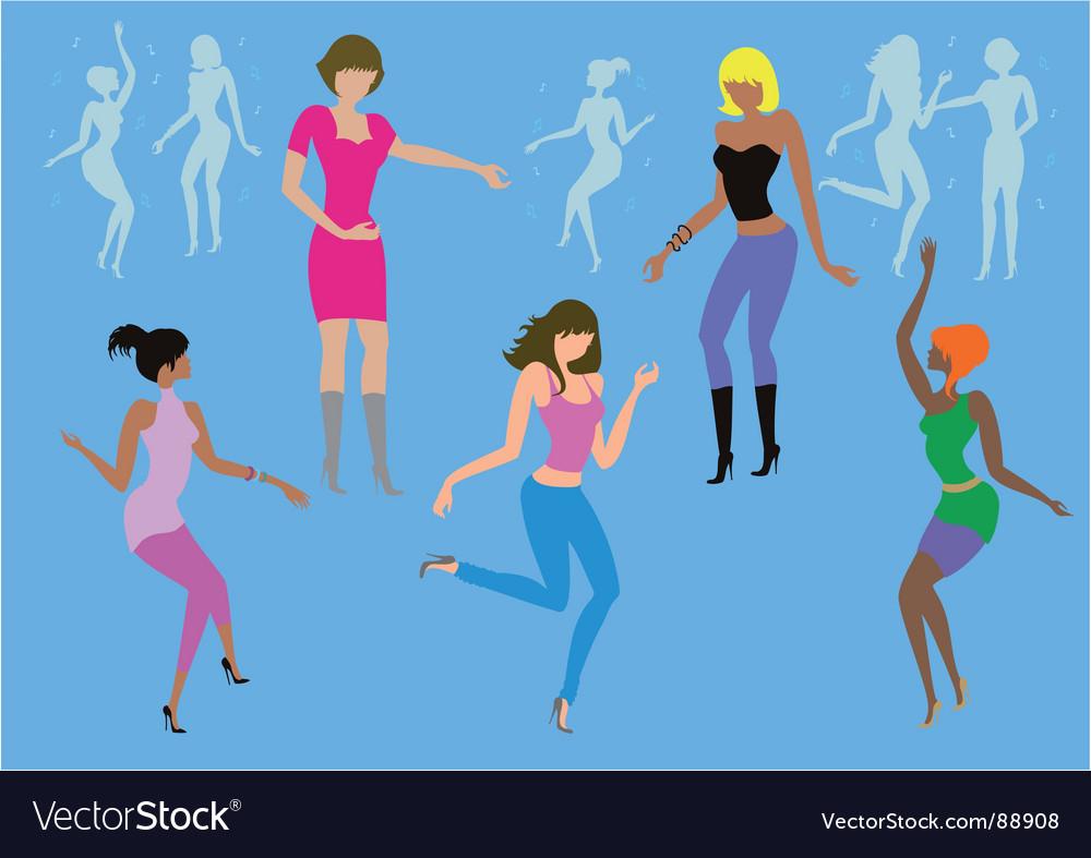 Dancing ladies vector   Price: 1 Credit (USD $1)