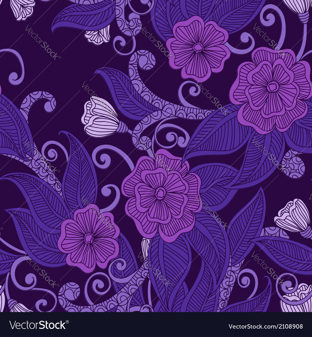 Floral ornamental seamless pattern vector | Price: 1 Credit (USD $1)