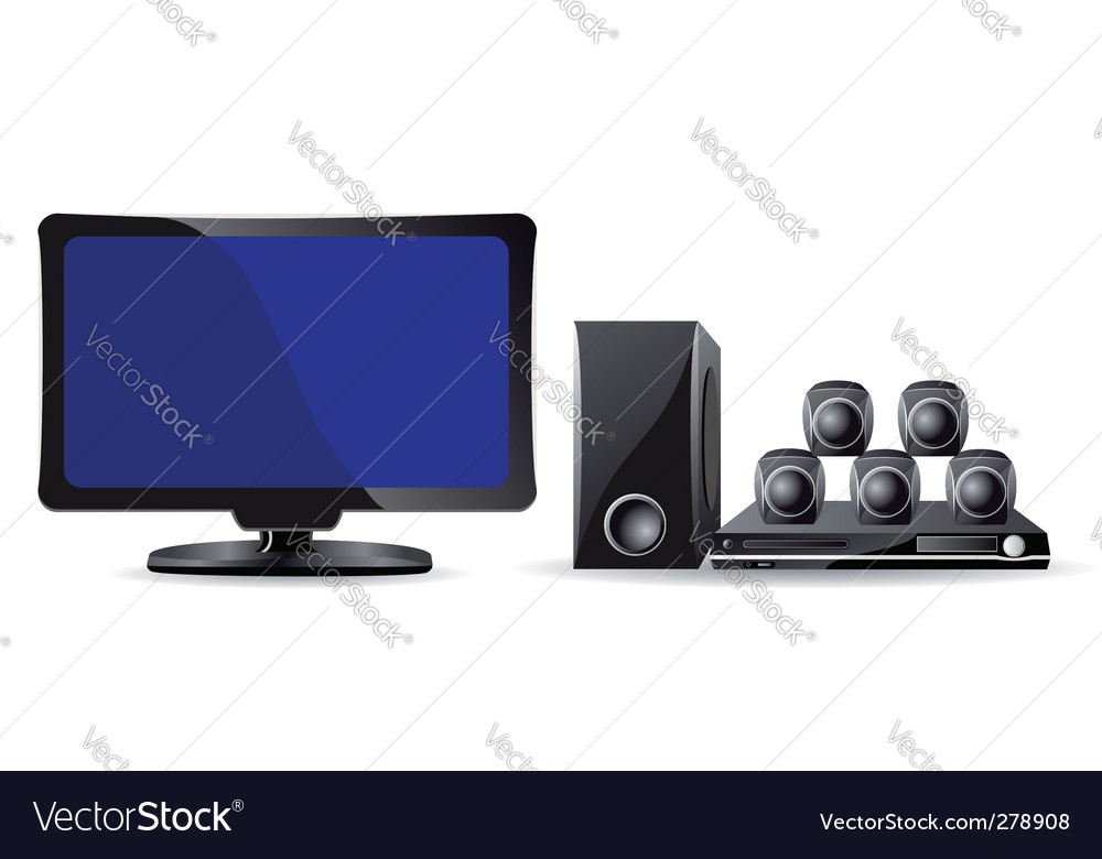 Home entertainment vector | Price: 1 Credit (USD $1)