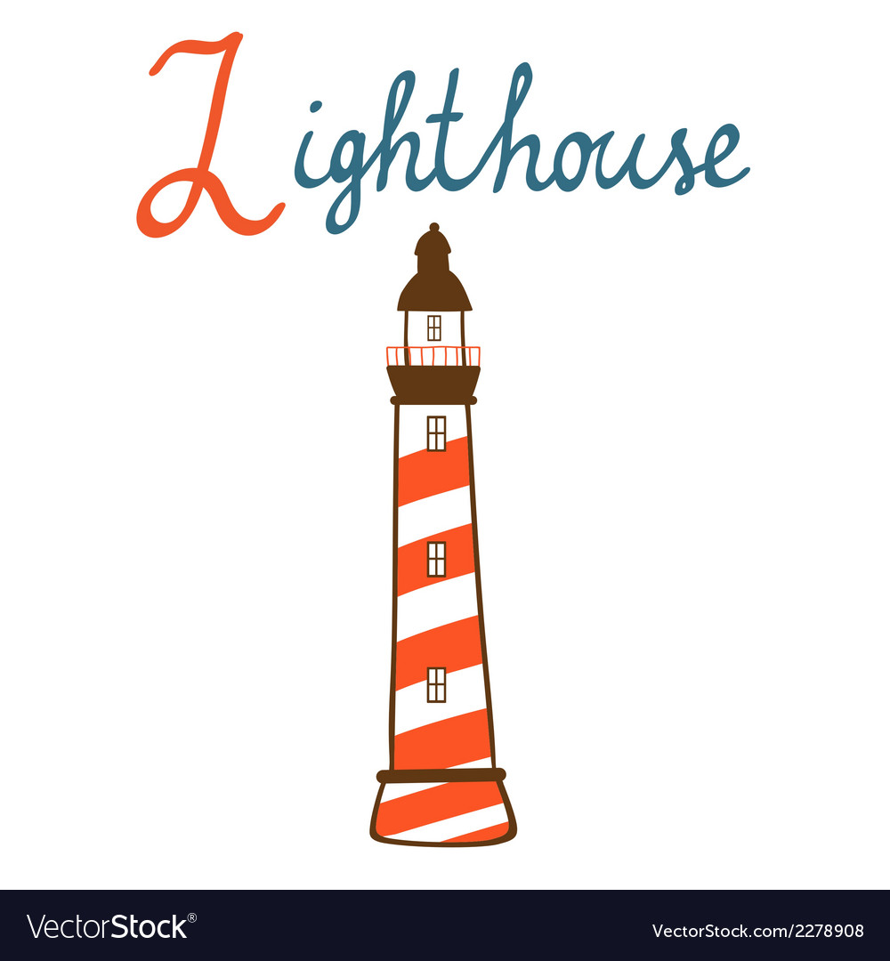 L is for lighthouse vector | Price: 1 Credit (USD $1)