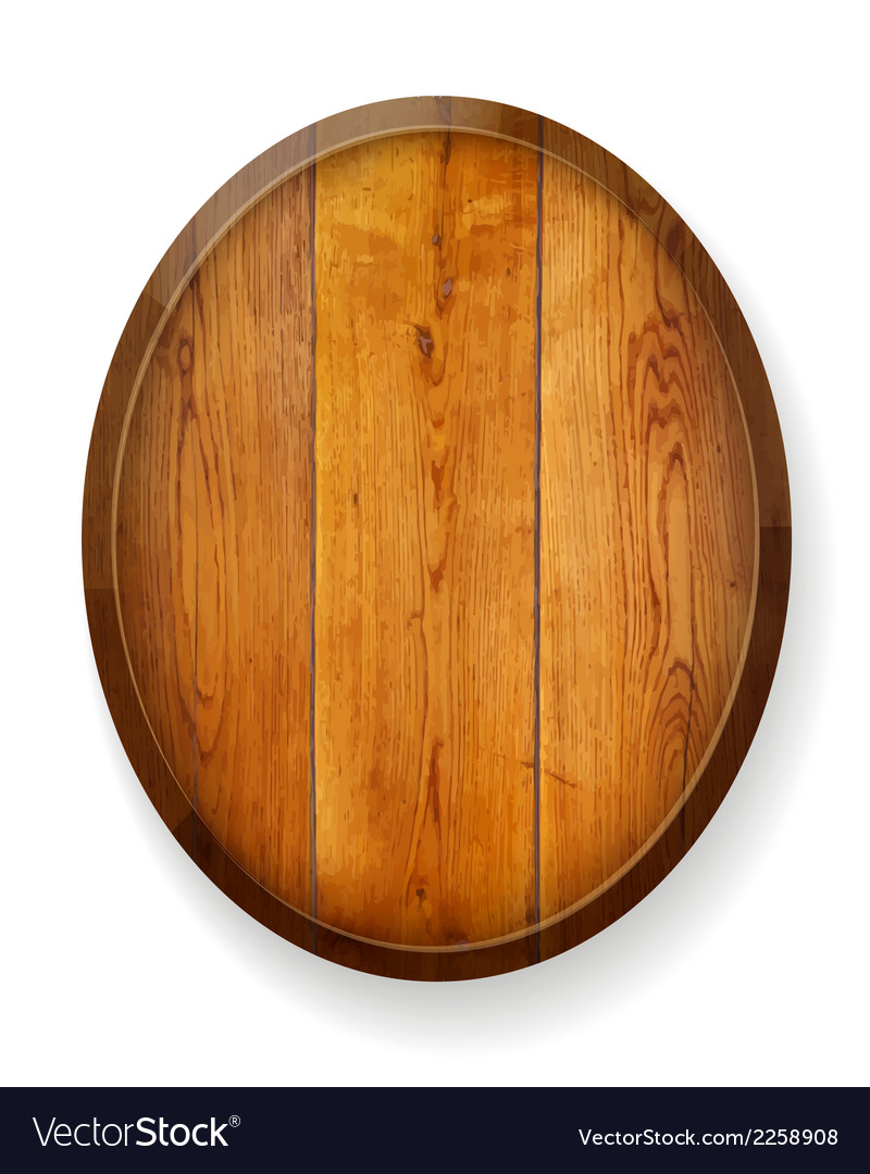 Realistic wooden round board vector | Price: 1 Credit (USD $1)