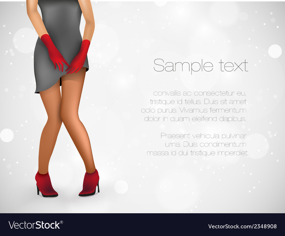 Sensuality long legs vector | Price: 1 Credit (USD $1)