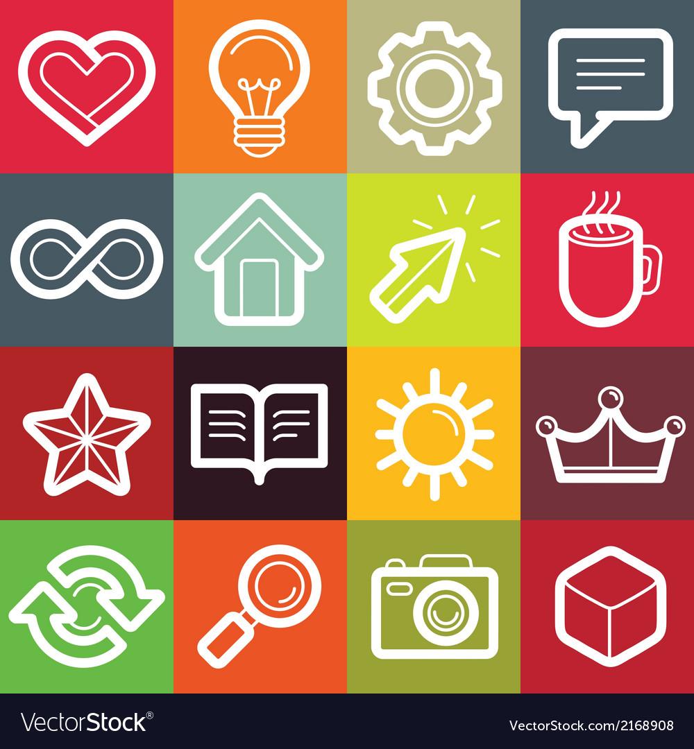 Set of design elements and logo symbols vector   Price: 1 Credit (USD $1)