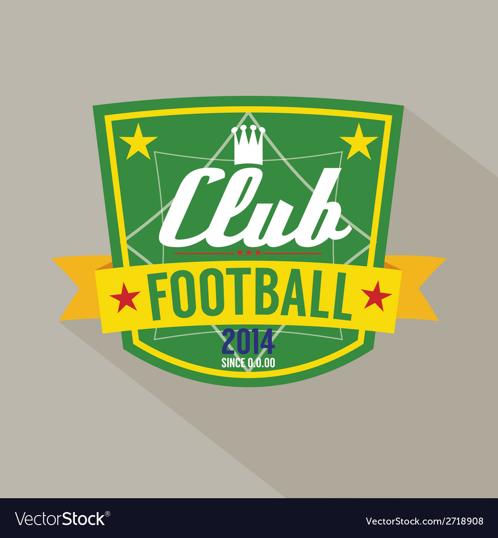 Soccer or football badge vector | Price: 1 Credit (USD $1)