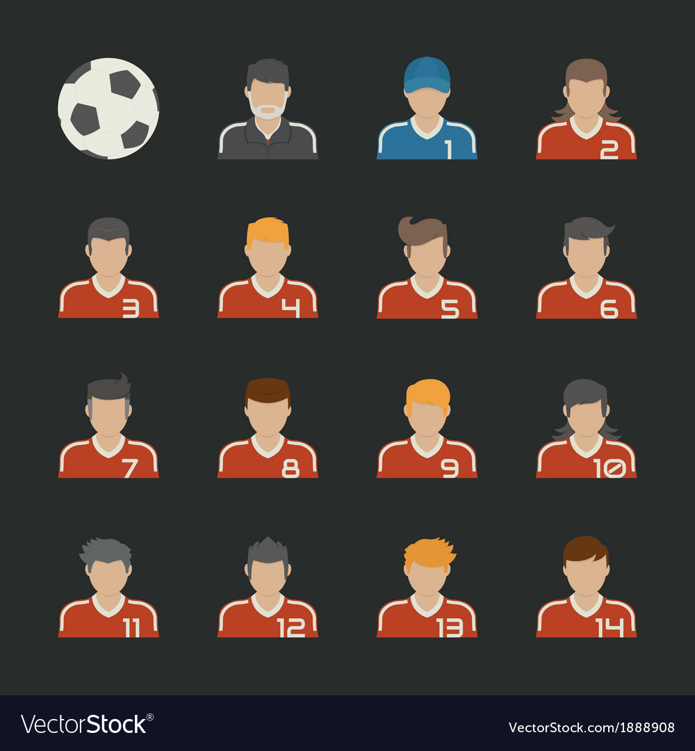 Sport football icons set vector | Price: 1 Credit (USD $1)