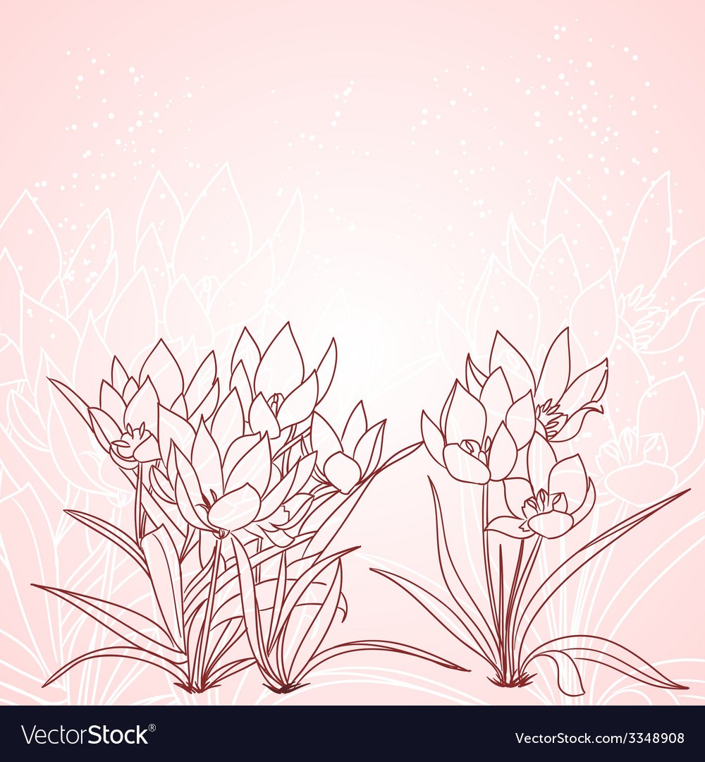 Spring tulips background vector | Price: 1 Credit (USD $1)