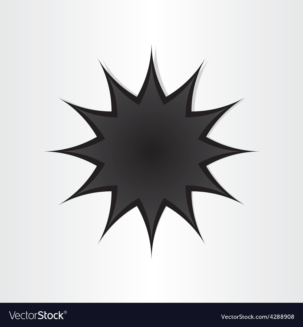 Star shape hole in paper vector | Price: 1 Credit (USD $1)