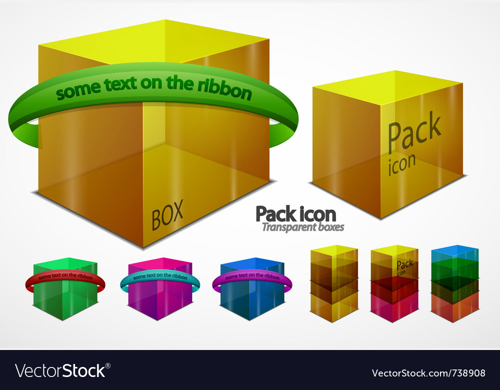 Web boxes elements vector | Price: 1 Credit (USD $1)