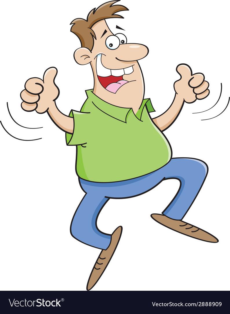 Cartoon man jumping vector | Price: 1 Credit (USD $1)