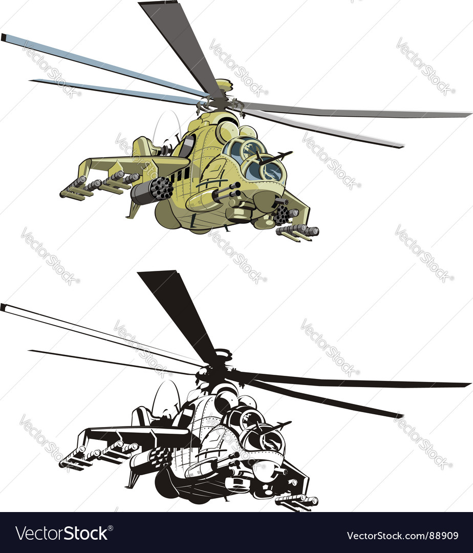 Cartoon strike helicopter vector | Price: 5 Credit (USD $5)