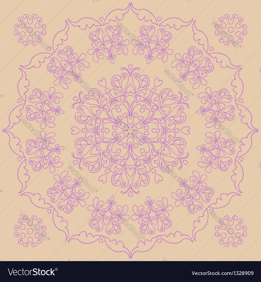Circular pattern - irises vector | Price: 1 Credit (USD $1)