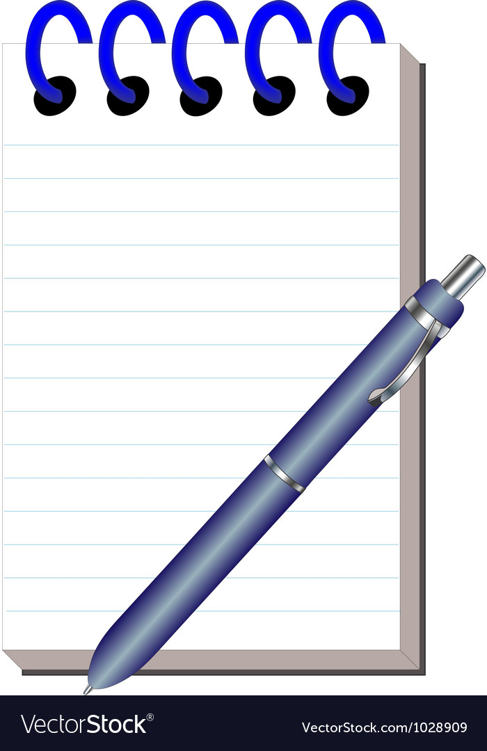 Clean note pad with handle for writing vector | Price: 1 Credit (USD $1)