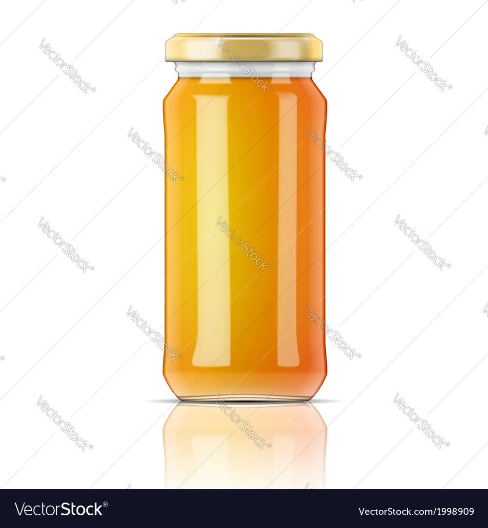 Glass jar with honey vector | Price: 1 Credit (USD $1)