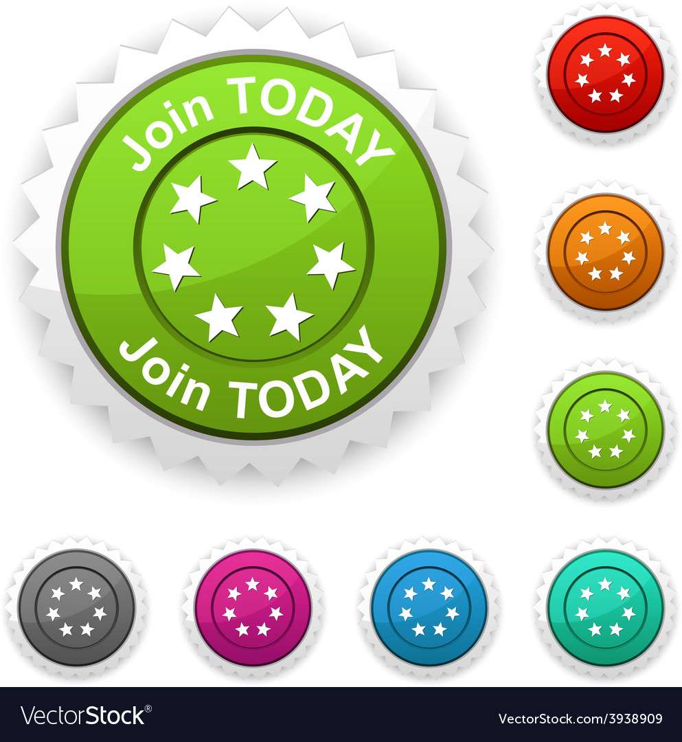 Join today award vector | Price: 1 Credit (USD $1)
