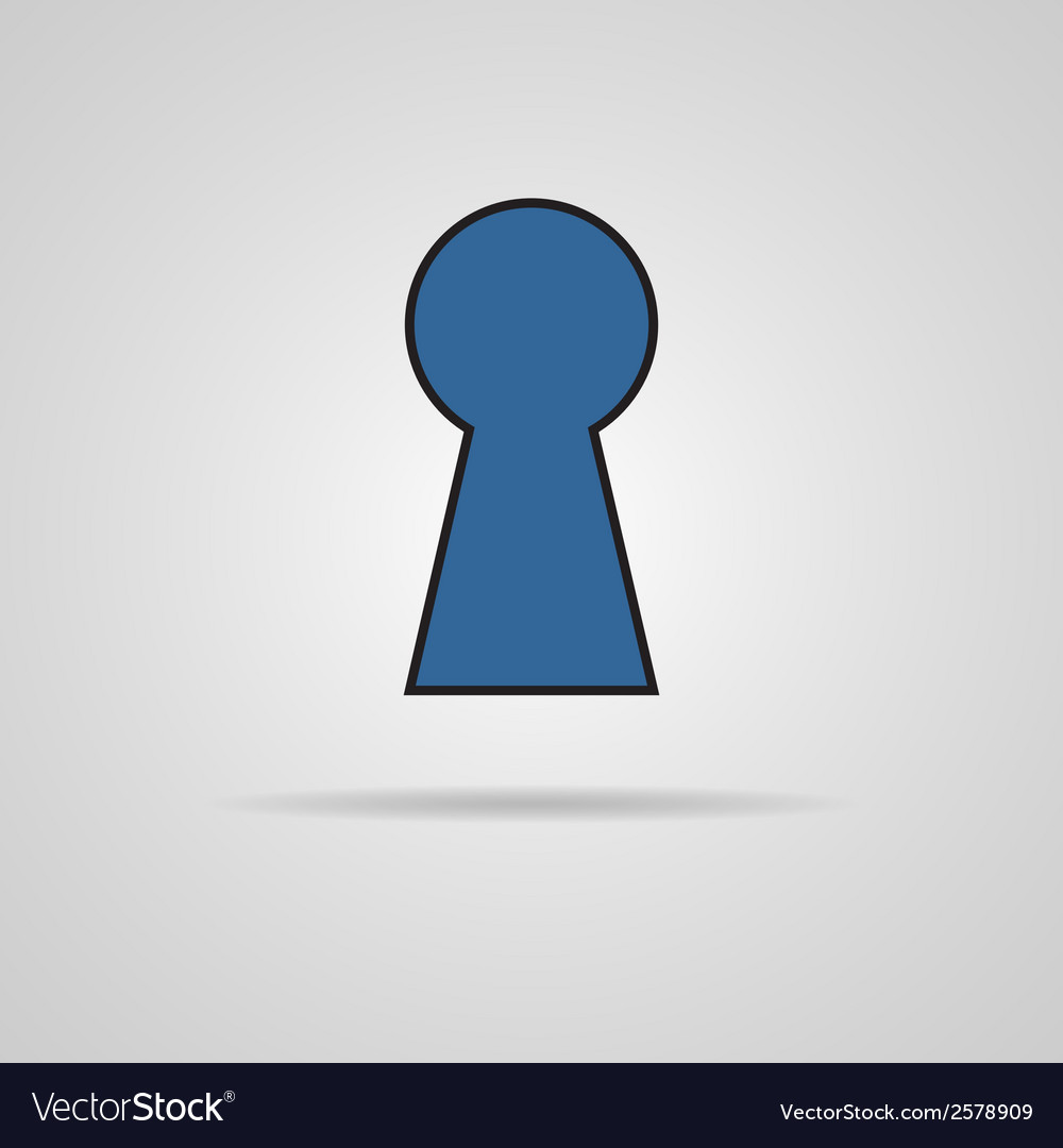 Keyhole icon with shadow vector | Price: 1 Credit (USD $1)