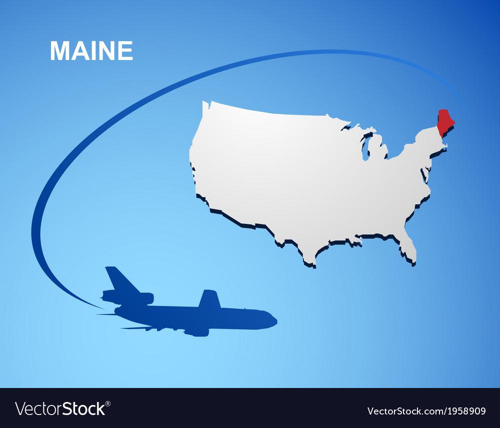 Maine vector   Price: 1 Credit (USD $1)