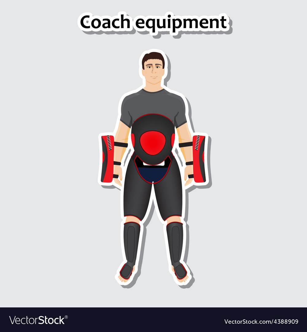 Man with coach equipment vector | Price: 1 Credit (USD $1)