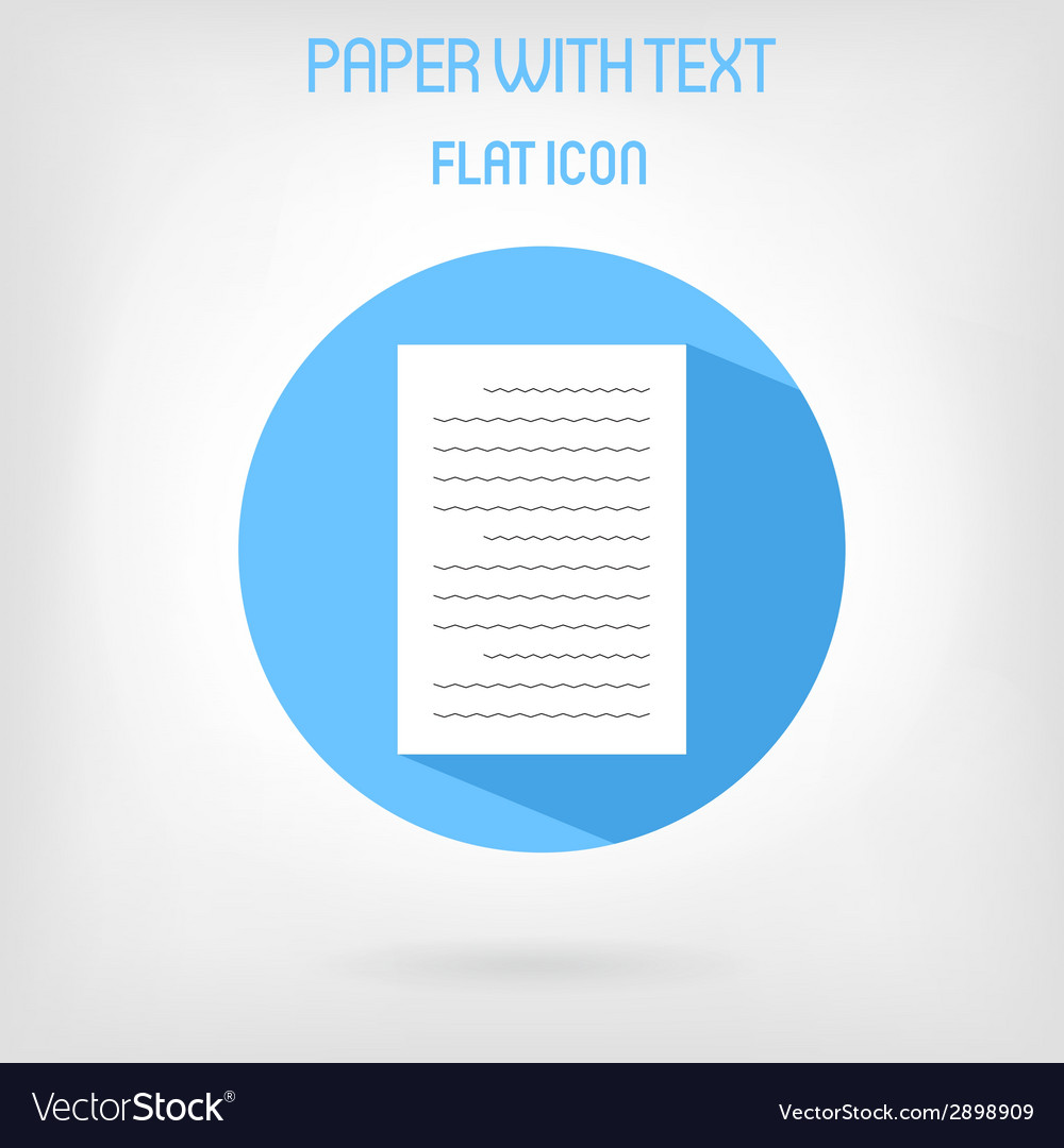 Paper list icon in flat style vector | Price: 1 Credit (USD $1)
