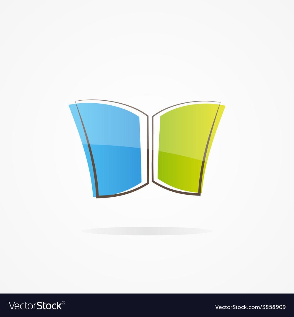 Simple book logo vector | Price: 1 Credit (USD $1)