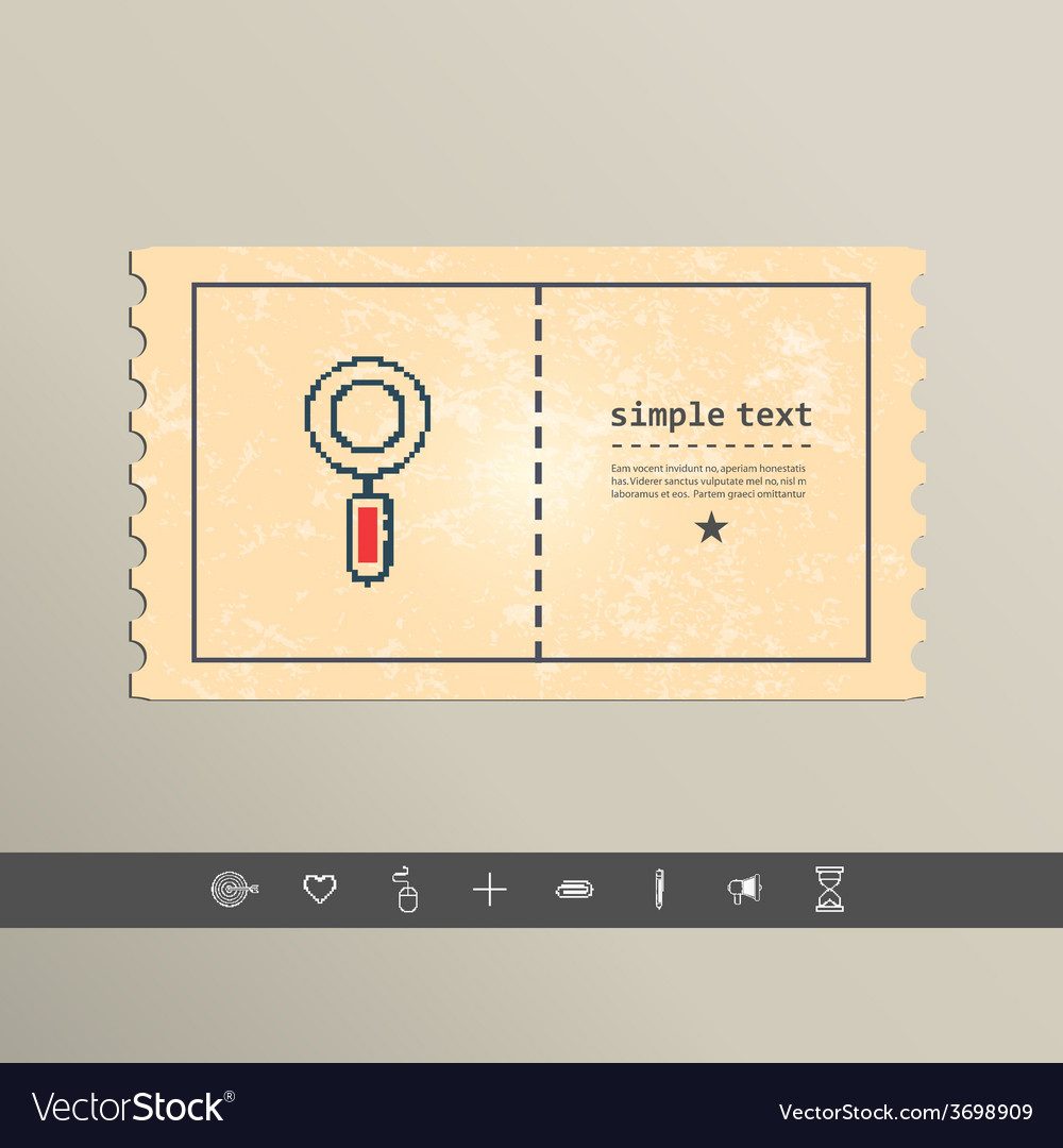 Simple stylish pixel magnifying glass icon design vector | Price: 1 Credit (USD $1)