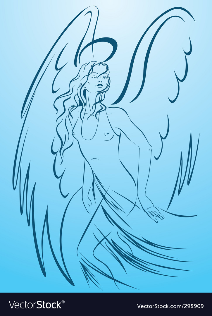 Woman angel vector | Price: 1 Credit (USD $1)